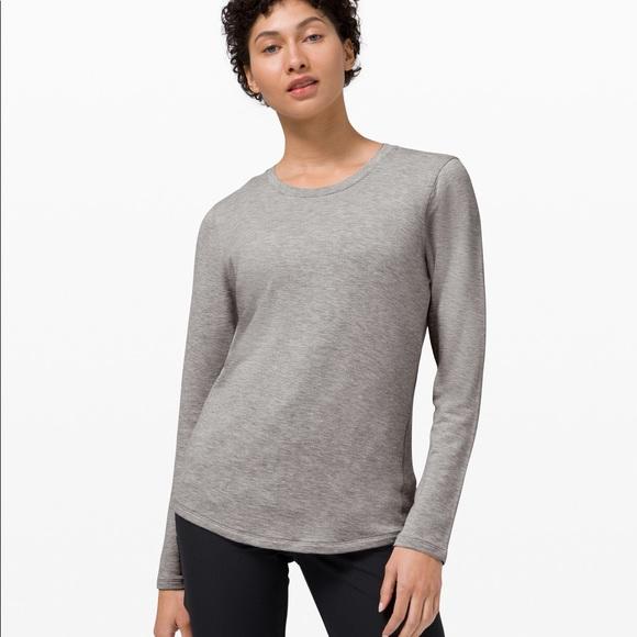 Lululemon ever ready long sleeve grey size 4 modal